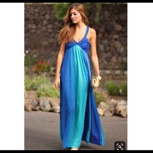 H&M Dresses - H&M Blue Ombre Maxi Dress/Gown Size 4